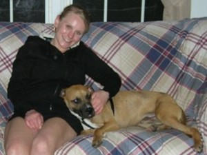 boxer mix bert and human mom christy